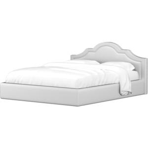Кровать АртМебель Афина эко-кожа белый lace up long sleeves crop top
