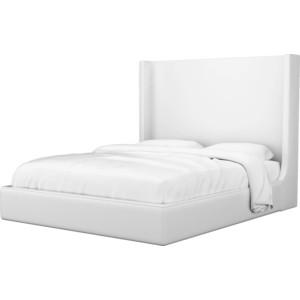Кровать АртМебель Ларго эко-кожа белый