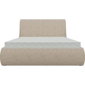 Кровать АртМебель Принцесса микровельвет бежевый стоимость