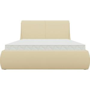 Кровать АртМебель Принцесса эко-кожа бежевый стоимость