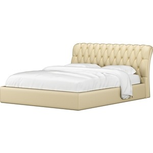 Кровать АртМебель Сицилия эко-кожа бежевый кровать артмебель ларго эко кожа бежевый