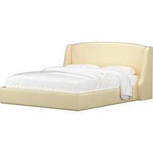 Кровать АртМебель Лотос эко-кожа бежевый. кровать артмебель ларго эко кожа бежевый