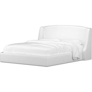 Кровать АртМебель эко-кожа белый.