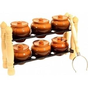 Набор керамических горшков 3 предмета Вятская керамика (НБР ВК-3Т) эльфф керамика набор керамических ножей 3 предмета