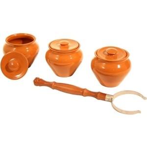 Набор керамических горшков 3 предмета Вятская керамика (НБР ВК-1/3) эльфф керамика набор керамических ножей 3 предмета