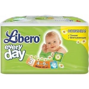 Libero Подгузники детские Every Day миди 4-9кг 46шт упаковка экономичная every набор чехлов для дивана every цвет кремовый