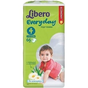 Libero Подгузники детские Every Day макси 7-18кг 66шт упаковка мега ланч бокс good every day g11 kitty
