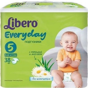 Libero Подгузники детские Every Day экстра лардж 11-25кг 38шт упаковка экономичная чарльз диккенс sketches by boz illustrative of every day life and every day people