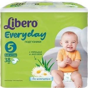 Libero Подгузники детские Every Day экстра лардж 11-25кг 38шт упаковка экономичная ланч бокс good every day g11 kitty