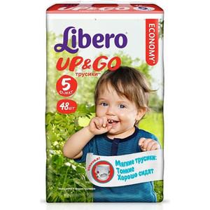 Libero Трусы детские одноразовые Up&Go макси плюс 10-14кг 48шт упаковка мега