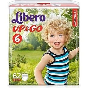 Libero Трусы детские одноразовые Up&Go экстра лардж 13-20кг 62шт упаковка гига