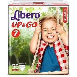Libero Трусы детские одноразовые Up&Go экстра лардж плюс 16-26кг 56шт упаковка гига