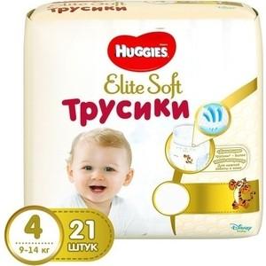 Huggies Трусики - подгузники Элит Софт 4 8-14 кг 21 шт