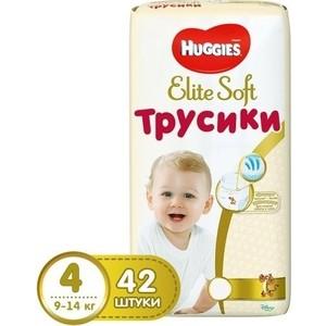 Huggies Трусики - подгузники Элит Софт 4 8-14 кг 42 шт
