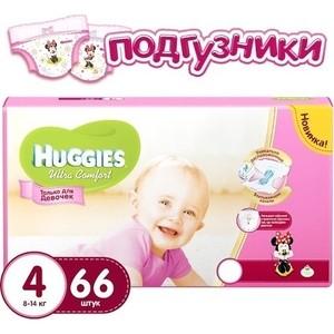 Фото Huggies Подгузники Ultra Comfort Размер 4 8-14кг 66шт для девочек