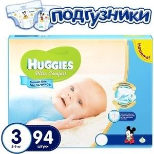 Фото Huggies Подгузники Ultra Comfort Размер 3 5-9кг 94шт для мальчиков