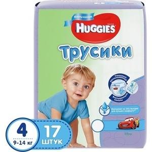 Huggies Подгузники-трусики Литтл Волкерс Размер 4 9-14кг 17шт для мальчиков набор инструментов на 3 4 17шт hans 6617m