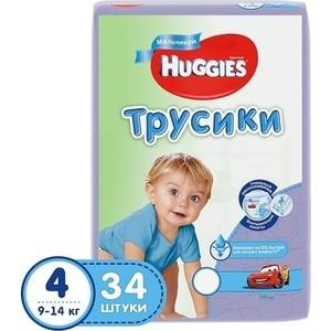 Huggies Подгузники-трусики Литтл Волкерс Размер 4 9-14кг 34шт для мальчиков