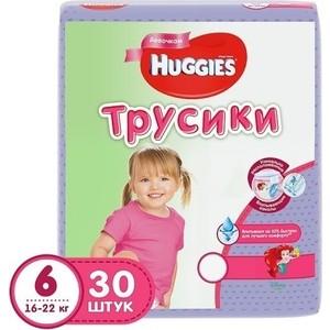 Huggies Подгузники-трусики Annapurna размер 6 16-22кг 30шт для девочек трусики подгузники merries big 12 22кг 19шт 4901301509116