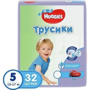Huggies Подгузники-трусики Annapurna Размер 5 13-17кг 32шт для мальчиков цены
