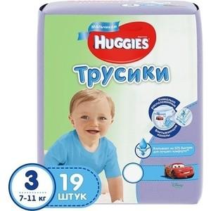 Фотография товара huggies Подгузники-трусики PANTS Annapurna размер 3 7-11кг 19шт для мальчиков (808593)