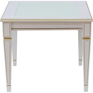 Стол журнальный Мебелик Васко В 82С белый ясень/золото журнальный столик мебелик стол журнальный васко в 82с