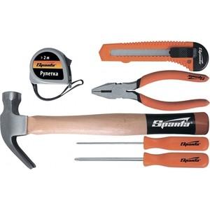 Набор инструментов SPARTA 6 предметов (13540) лопата туристическая с деревянным черенком