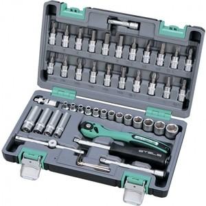 Набор торцевых головок и бит Stels 1/4 47 предметов Cr-V S2 (14099) exploit 692 cr v slotted screwdriver black 1 8 x 40mm