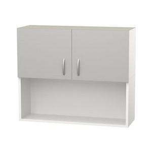 Шкаф навесной с дверью+ниша СМК Лилия 80х60 серый