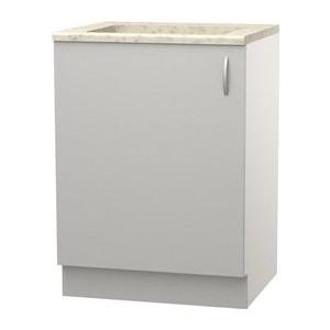 Шкаф напольный с дверью СМК Лилия 60х89 серый
