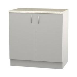 Шкаф напольный с дверью СМК Лилия 80х89 серый