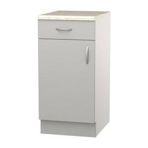 Шкаф напольный с дверью и ящиком СМК Лилия 40х89 серый