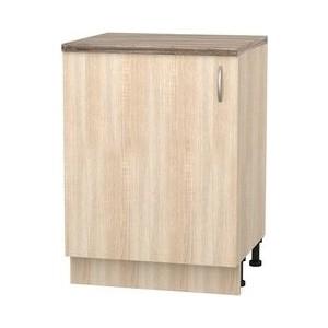 Шкаф напольный с дверью СМК Кармэн 60х85 дуб сонома трия шкаф нижний дуб сонома трюфель крем 1186191 н 72 30 1др