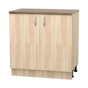 Шкаф напольный с дверью СМК Кармэн 80х85 дуб сонома трия шкаф нижний дуб сонома трюфель крем 1186191 н 72 30 1др