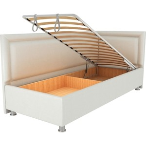 Кровать OrthoSleep Барби молочный механизм и ящик 120х200 правый угол