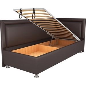 Кровать OrthoSleep Барби шоколад механизм и ящик 120х200 правый угол