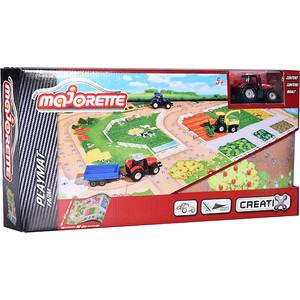Игровой набор Majorette Коврик Creatix Farm, 1 машинка (2056413) машины majorette городской автобус