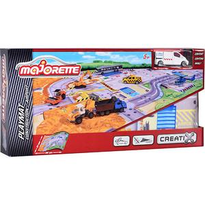 Игровой набор Majorette Коврик Creatix Construction, 1 машинка (2056412) машины majorette городской автобус