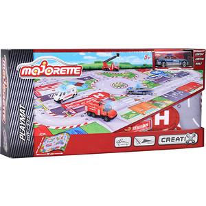 Игровой набор Majorette Коврик Creatix SOS, 1 машинка (2056411) majorette игровой набор коврик construction