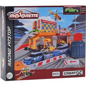 Игровой набор Majorette Питстоп Creatix, 1 машинка (2050011) машины majorette городской автобус