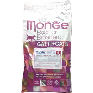 Сухой корм Monge Cat Sensitive Rich in Chicken с курицей для кошек с чувствительным пищеварением 10кг корм для кошек brit premium cat sensitive гипоалл с чувствительным пищеварением ягненок сух 1 5кг