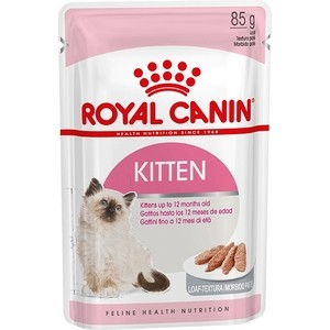 Фото - Паучи Royal Canin Kitten Mousse паштет для котят 85г (783601) royal canin royal canin cat ultra light 85 г х 12 шт