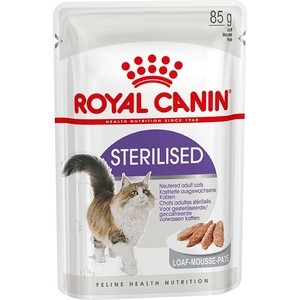 Фото - Паучи Royal Canin Sterilised Adult Cat Mousse паштет для стерилизованных кошек 85г (787601) royal canin royal canin cat ultra light 85 г х 12 шт