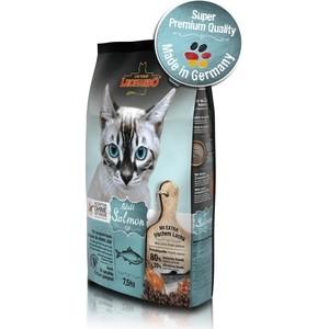 Сухой корм Leonardo Adult Salmon Grain Free беззерновой с лососем для кошек с чувствительным пищеварением 7,5кг (758725) джемпер brave soul brave soul br019embsiy5