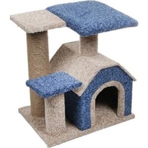 Когтеточка PerseiLine Комплекс КАМЕЯ-3 изба + 2 площадки 50*40*50см цвета в ассортименте для кошек (КК-3) домик perseiline кошка для кошек 38 40 40 см 00025 дмс 4