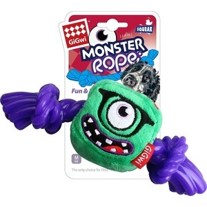 Игрушка GiGwi Dog Toys Squeak Monster Rope монстр с резиновой веревкой для собак (75434) adjustable pet dog traction rope