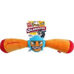 Игрушка GiGwi Dog Toys Squeak Gladiator гладиатор в резиновом шлеме- палка с пищалкой для собак (75441) игрушка gigwi dog toys push to mute сова с отключаемой пищалкой для собак 75329