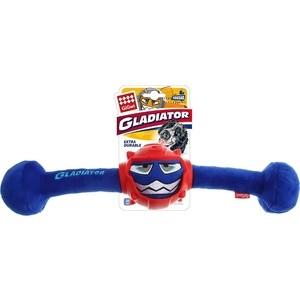 Игрушка GiGwi Dog Toys Squeak Gladiator гладиатор в резиновом шлеме- гантеля с пищалкой для собак (75442) игрушка gigwi dog toys push to mute сова с отключаемой пищалкой для собак 75329