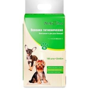 Пеленки Neki-Zoo гигиенические впитывающие S 33х45см для домашних животных 100шт (PP746)