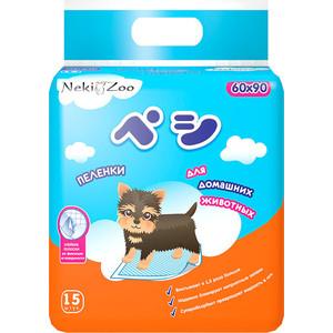 Пеленки Neki-Zoo гигиенические впитывающие L 60х90см для домашних животных 15шт (PP1323)
